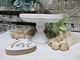 Free Brand Placa de madera para el hogar, pedestal, mini soporte para elevación, decoración de granja, barra de café, elevador de taza de pedestal, decoración, centro de mesa, placa de madera