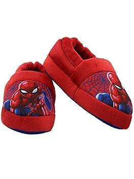 Spider-Man Toddler Boys Plush Aline Slippers  13-1 M US Little Kid Red/Blue