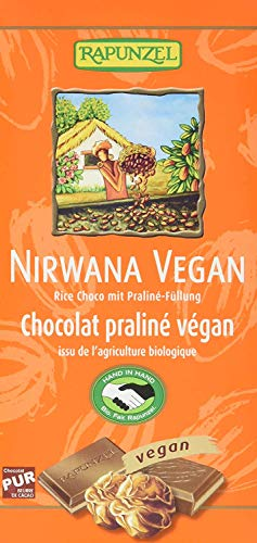 Rapunzel Nirwana vegan (cioccolato vegano senza lattosio con crema di nocciola) 100g