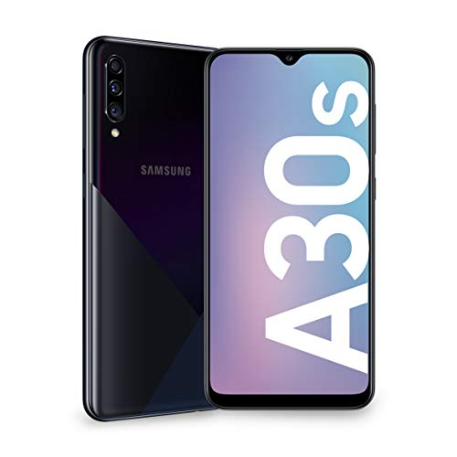 Samsung Galaxy A30s, Smartphone, Display 6.4' Super AMOLED, 128 GB Espandibili, RAM 4 GB, Batteria 4000 mAh, 4G, Dual SIM, Android 9 Pie [Versione Italiana], Black