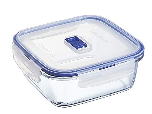 Luminarc Pure Box Active - Recipiente hermético de Vidrio, Cuadrado, tamaño 1,22 litros