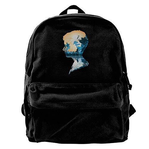 Best Friends Boy Canvas Backpack School Laptop Bag for Women & Men Travel Bookbag
