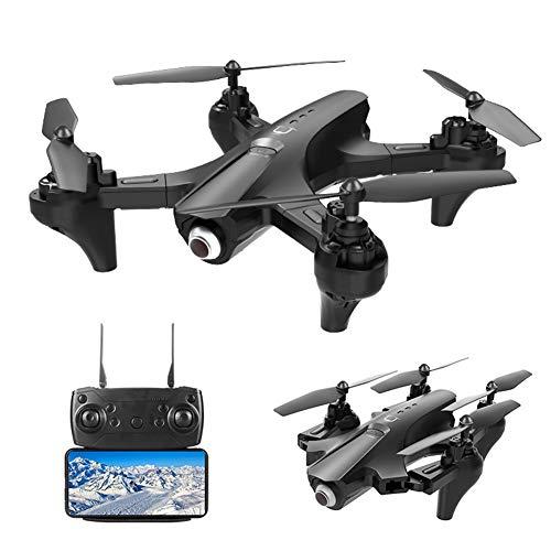 YHM Photographie Aérienne Haute Définition UAV 4K Pliable, Positionnement GPS, Détection De La Gravité, Distance De Contrôle De 150 Mètres, Pliable,Noir