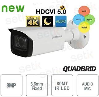 Dahua - Cámara Dahua 8MP 4K 3.6mm Starlight Audio - HAC-HFW2802T-I8-A