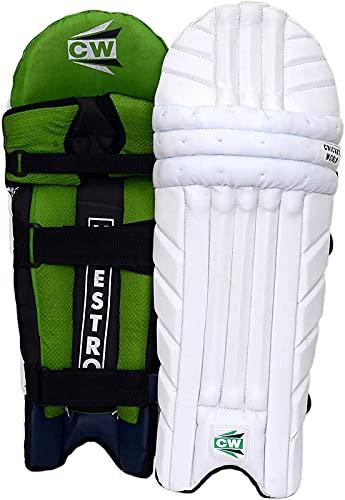 CW MAESTRO - Protector de piernas de bateo profesional para hombre, para críquet y bateo de críquet, almohadillas de bateo para críquet | Protectores de piernas moldeados con correas de protección