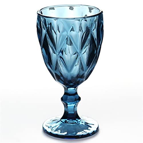 Copa de vino Taza de vino tinto 300ml (Capacity : 300ml, Color : Rhombus Blue)
