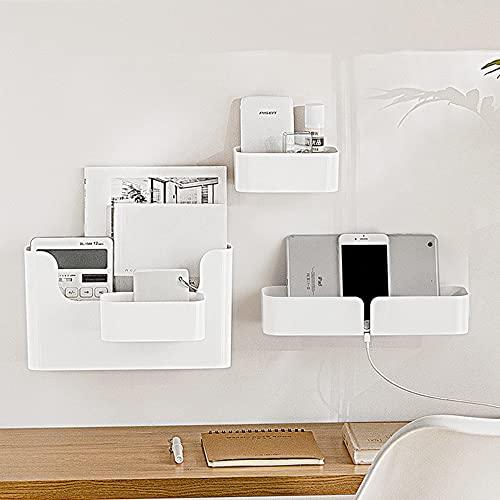 Xnuoyo Adhesive Cabinet Storage Organizer Bin, schwimmendes Regal Wandmontage Organizer Box, Display Ledge Shelf Mehrzweck-Lagerregal für Badezimmer, Schlafzimmer, Küche, Büro