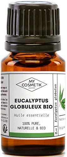 Huile Essentielle d'Eucalyptus Globuleux Bio AB - 100% pure et naturelle HEBBD - MyCosmetik - 30 ml