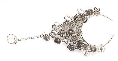 Pulsera de danza del vientre, diseño esclavo, plata, talla única