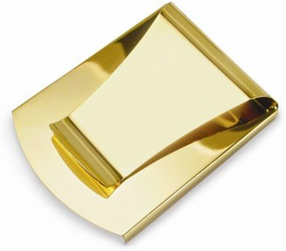Sonia Jewels Solid Gold-Toned Smart Slim Business Credit Card Holder Money Clip 3.63