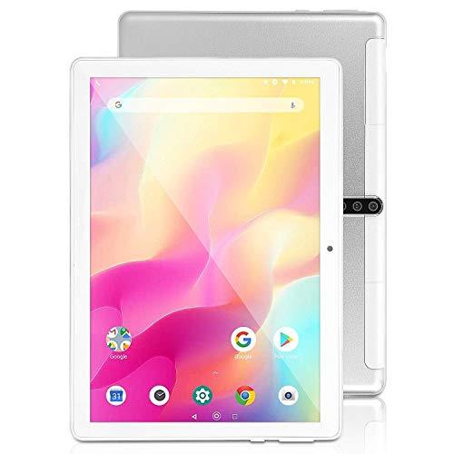 Android Tablet 10 Zoll mit SIM-Karte Slots - 5G Wi-Fi 4GB RAM 64GB ROM Octa Core , Android 9.0,3G entsperrt Phone Tablet PC mit WiFi Bluetooth GPS , 5000 mah Akku , U1 (Silber)
