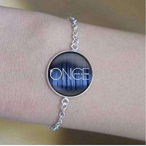 bab Bracelet avec pendentif en verre « Once upon a time »