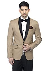 Favoroski Mens Polyester and Viscose Blazers - Beige