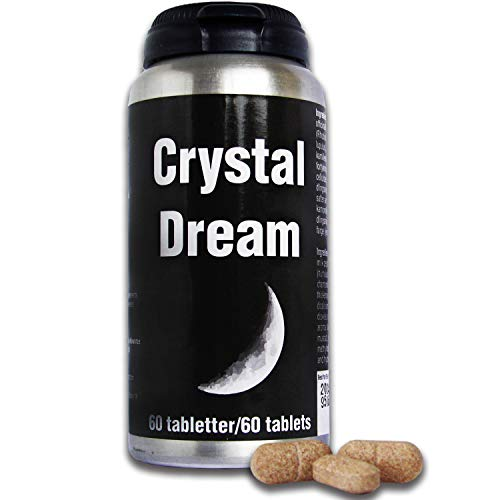 Crystal Dream All Natural Sleep Aid - Strong Herbal Sleeping Tablets for Adults with Lemon Balm & Chamomile - Aids Anxiety and Stress Relief - 60 Natural Sleeping Pills by ECI Natural Health
