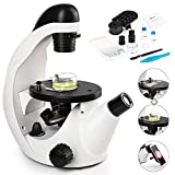 Best Microscopes Kids Microscopes - TELMU Inverted Microscope 40X-320X, Live Cell Observation + Review