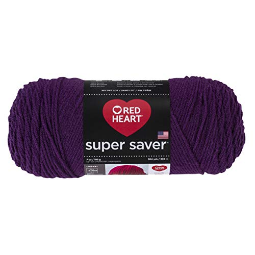 Red Heart 285412Super Saver Yarn, Dark Orchid