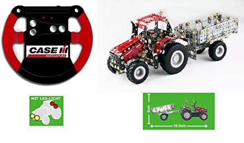 TRONICO Metallbaukasten RC Traktor Case IH Magnum Konstruktionsspielzeug - Mint - STEM - Modellbau - Bauen mit Werkzeug