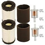Carkio MIU14395 - Filtro de aire para filtro de combustible John Deere L105, L107, L108, LA135, LA145, D100, D160, D170, E100, E120, E130, Z225, Z235 Z255 21435 MIU13963 Cortacésped