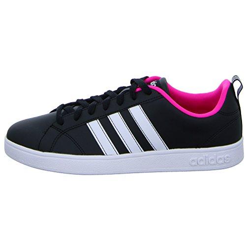 adidas Vs Advantage, Zapatillas de Tenis Mujer, Negro (Core Black/FTWR White/Shock Pink Core Black/FTWR White/Shock Pink), 36 EU