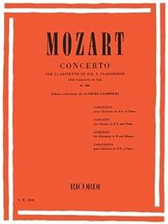MOZART - Concierto para Clarinete (K.622) para Clarinete en Sib y Piano (Giampieri)