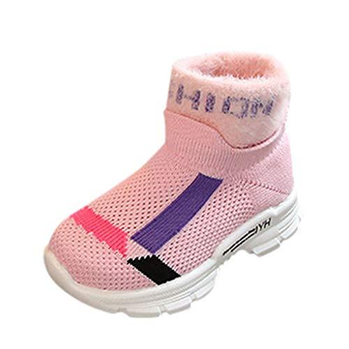 Cuteelf Kindersocken Schuhe Kinder Jungen Jungen Jungen Mischfarbe Turnschuhe Socken Stiefel Freizeitschuhe Strickfarbe passende atmungsaktive Hohle Freizeitschuhe Turnschuhe