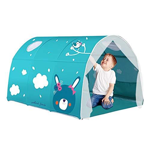 KEIBODETRD Bettzelt, Bed Canopy Dream Kinder spielen Zelte Spielhaus Privatsphäre Raum Jungen Mädchen Kleinkinder Pop Up Tragbare Rahmen Vorhänge Bettzelt