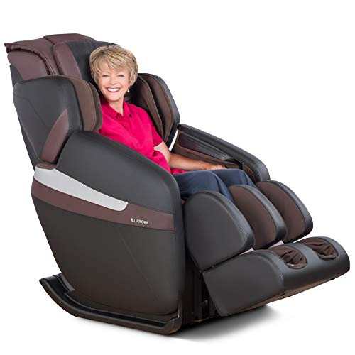 RELAXONCHAIR [MK-Classic] Full Body Zero Gravity Shiatsu Massage Chair with Built-in Heat and Air Massage System (Brown - White Glove Delivery)