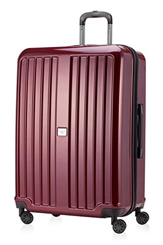 HAUPTSTADTKOFFER - X-Berg - XL Hartschalen-Koffer Koffer Trolley Rollkoffer Reisekoffer, 4 Rollen, TSA, 75 cm, 126 Liter, Rot glänzend