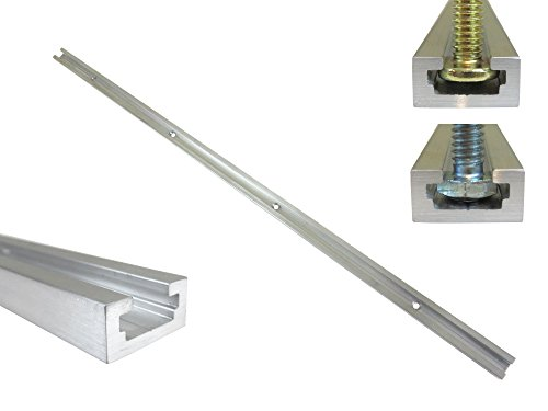 """48"""" Aluminum T Track 3/4"""" by 3/8"""" Slot, Accepts 1/4"""" Hex Bolts, 1/4"""" or 5/16"""" T Bolts, Countersunk Holes Every 6"""" 112130"""
