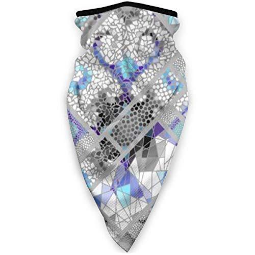 TTYIY - Máscara de esquí resistente al viento, máscara deportiva para el cuello, bufanda con diseño de mosaico de diferentes azulejos, pasamontañas, capa media térmica de invierno