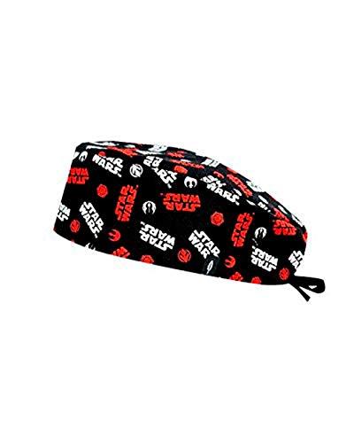 Modelo: STAR WARS LOGO - Estampado-Gorro de Quirófano ROBIN HAT- Pelo Corto - Ajustable- 100% -algodón (Autoclave)