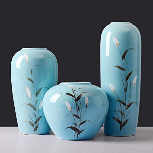 Powzz ornament Skulpturen Statuen Dekoartikel Getrocknete Blumenvase Dekoration Wohnzimmer Blumenschmuck Handbemalte Fuchsschwanz Veranda Vase-Fuchsschwanz Vase (DREI Sätze)