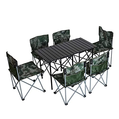 ADSE Outdoor Table and Chair Set Travel Ultralight Outdoor Furniture Table and Chair, Outdoor Picnic Table and Chair, Folding Table and Chair Set