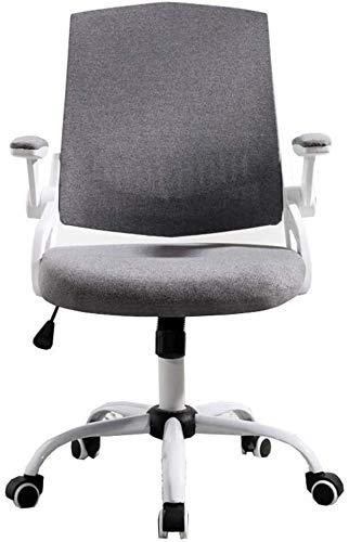GSN Silla Inicio del escritorio de oficina silla de la tela del ordenador del respaldo hueco diseño giratorio Barandilla Estudio de la silla del asiento del hogar la capacidad de carga de 260 libras s