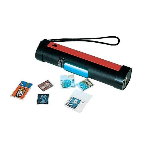 SAFE Nr. 1038 UVC Tester Prüflampe - Prüfgerät mit Kurzwellenröhre UV Röhre 254 nm - inclusive Batterien - Ideal zum prüfen von Briefmarken und Phosphoreszen