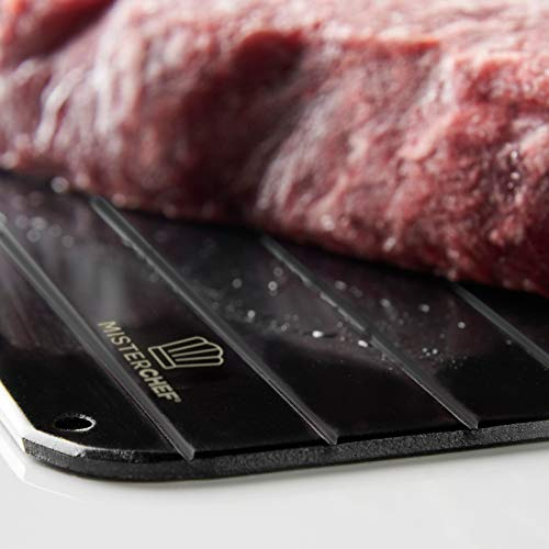 MisterChef® Fast Defrosting Tray - The Safest Way to Defrost Meat, Fish or Frozen Food Quickly Without Electricity, Microwave, Hot Water or Any Other Tools