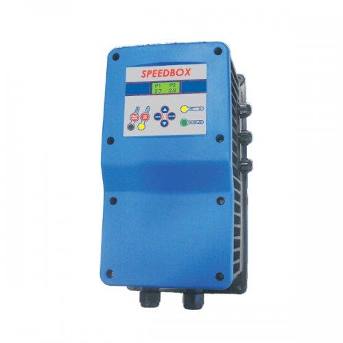 Frequentieregelaar voor waterpompen SPEEDBOX 1309TT 3-fasen 380 V, speciaal voor waterdrukgroepen en verticale en uurpompen, 380 V