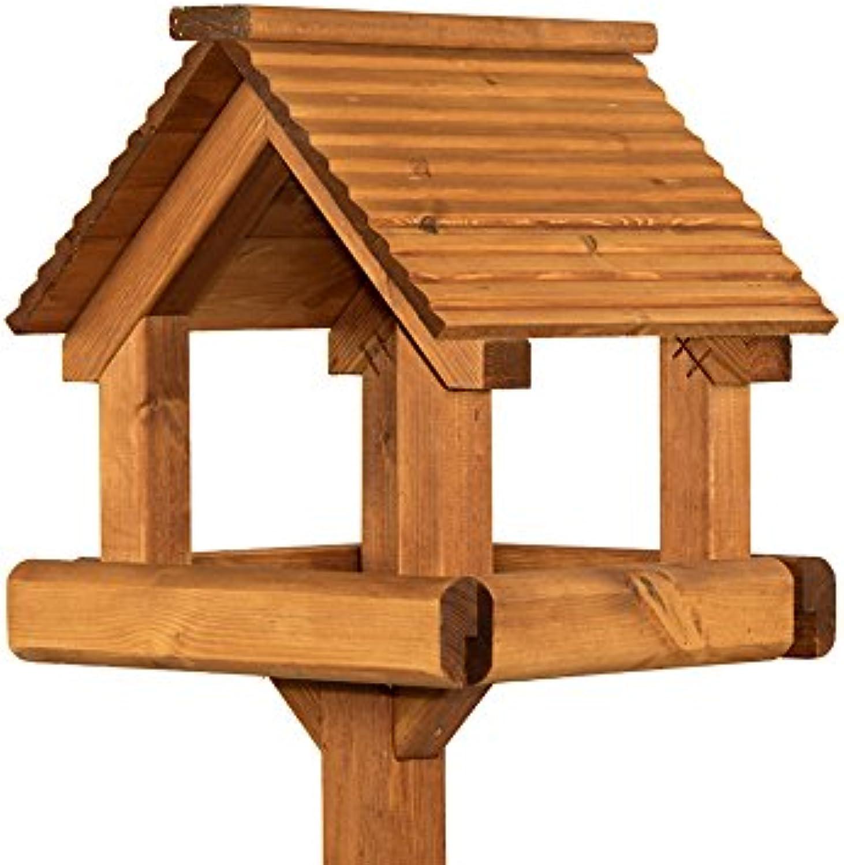Riverisde Woodcraft Premier Garden Bird Table With Anti Bacteria Coating