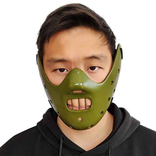 Film Thema Masker Halloween Masker Stille Lam Hannibal Masker Hars Craft Gift voor Masquerade Carnaval Kostuum Party benodigdheden