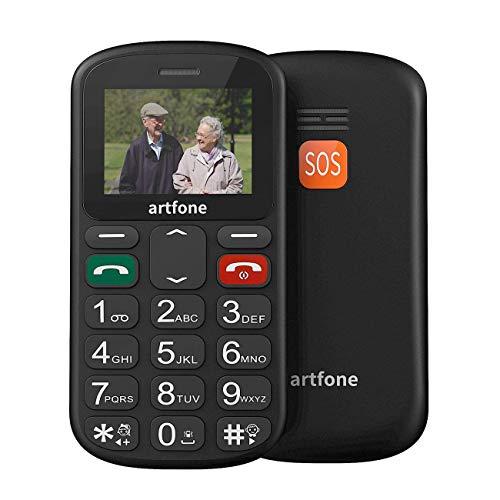 Teléfono móvil CS181 con botones grandes, modelo senior mejorado con GSM, botón SOS, números parlantes y linterna