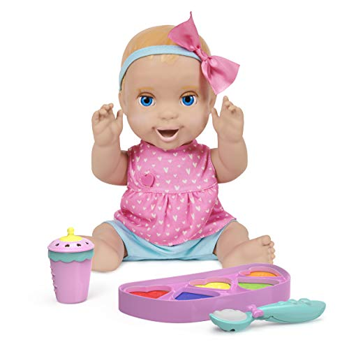 Mealtime Magic Mia, Interactive Feeding Baby Doll, Recognizes Over 50 Foods with Lifelike Reactions and Over 70 Sounds