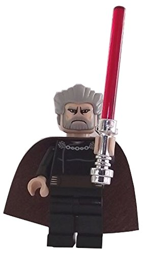 LEGO Star Wars: Minifigur Count Dooku mit rotem Lichtschwert
