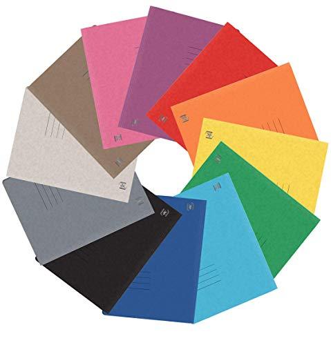 Oxford Schnellhefter A4, aus Karton, sortiert mit 12 Farben, 25 Stück