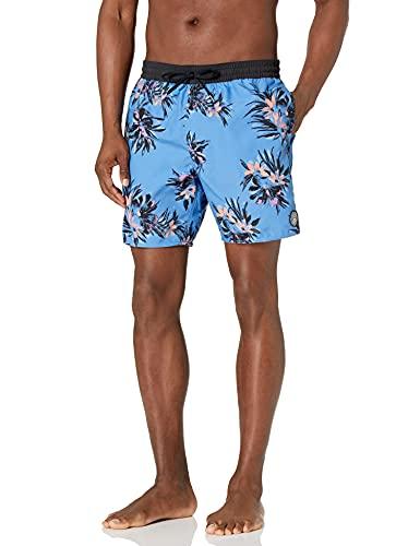 Volcom Men's 17-Inch Elastic Waist Surf Swim Trunks, Ballpoint Blue, Large