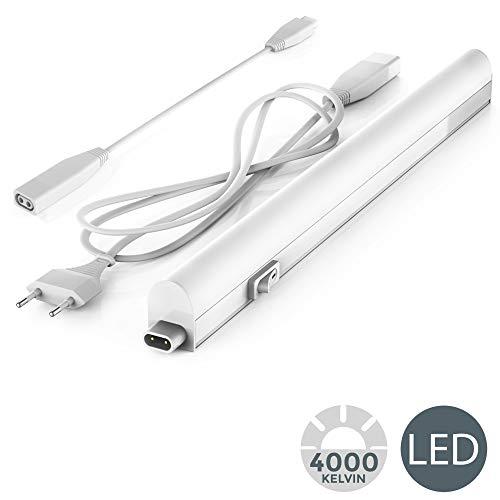 B.K.Licht - Regleta LED bajo armarios y cabinetes, de luz blanca neutra, iluminación bajo...