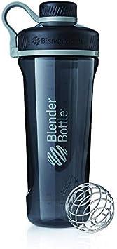 BlenderBottle Radian Tritan-Botella de agua y mezclador de bebidas proteicas con BlenderBall, 940ml