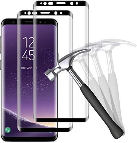 NUOCHENG Panzerglas Schutzfolie für Samsung Galaxy S8, 3D Vollständige Abdeckung, Ultra-klar, Anti-Kratzer, Blasenfreie, Anti-Fingerabdruck, 9H Härte Displayschutz für Samsung S8 [2 Stück]