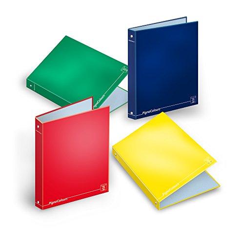 Pigna Colours, Raccoglitore Cartonato ad Anelli, formato A4, 27 x 32 cm, Pacco da 5 Pezzi