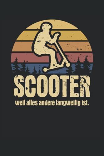 Stunt Scooter Notizbuch (liniert) Jump Roller Vintage