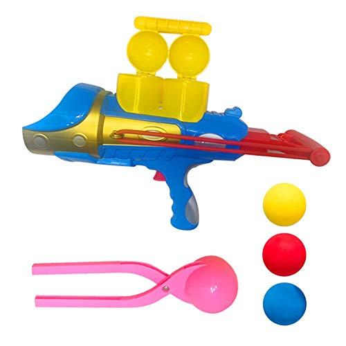Seii Juguete al Aire Libre del Arma de la Bola de Nieve, Molde Redondo para Hacer Bolas de Nieve con Mango, Forma esférica, Juguete Divertido del Arma del Lanzador del Lanzador de Easy to Use